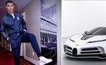 Cristiano Ronaldo comprou mais um carro de luxo para sua coleção. Segundo o jornal As, da Espanha, o jogador desembolsou nada menos que 8 milhões de euros, cerca de R$ 64 milhões, para adquirir o novo Bugatti Centodieci, modelo da montadora Bugatti que terá apenas 10 unidades produzidas no mundo todo