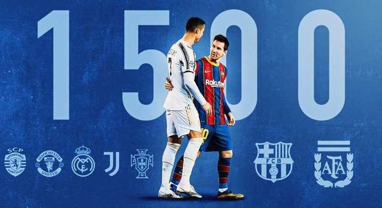 Uma homenagem aos gols, somados, de Ronaldo e Messi
