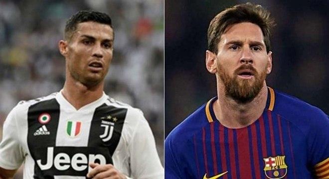 Cristiano Ronaldo e Lionel Messi, Juventus X Barcelona