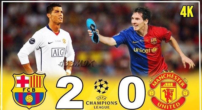 Ainda na Inglaterra, a primeira derrota do CR7 para Messi na LC
