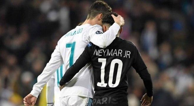 O CR7 e Neymar, nos tempos de Real Madrid X PSG