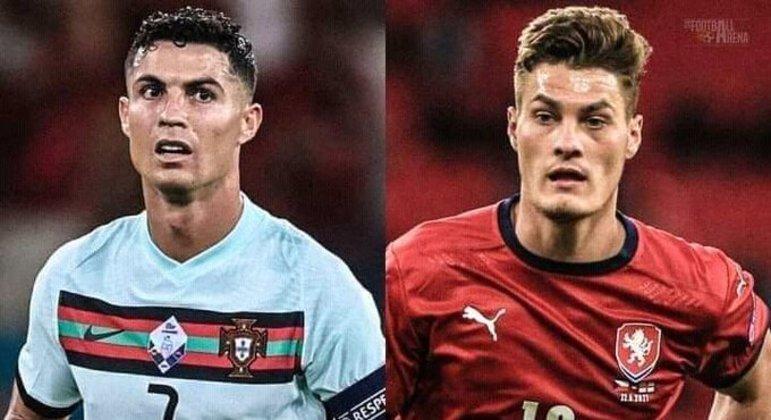 Cristiano Ronaldo, de Portugal, e Patrick Schick, da República Tcheca, os artilheiros