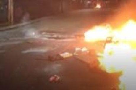 Dependentes químicos atearam fogo em colchões