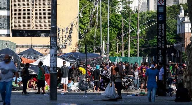 Cracolândia, no centro de São Paulo