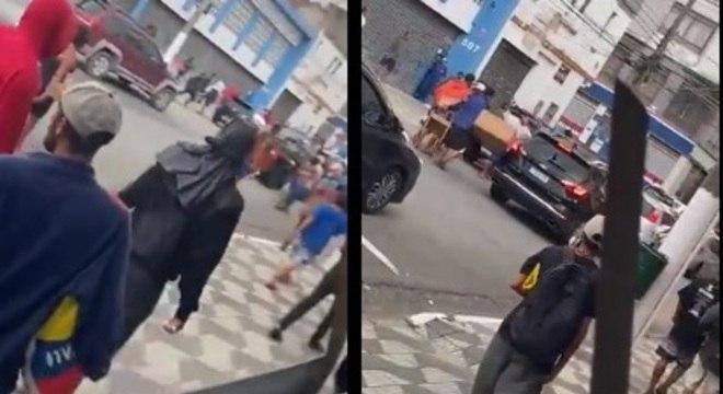 Usuários de drogas atacam motoristas na região da Cracolândia
