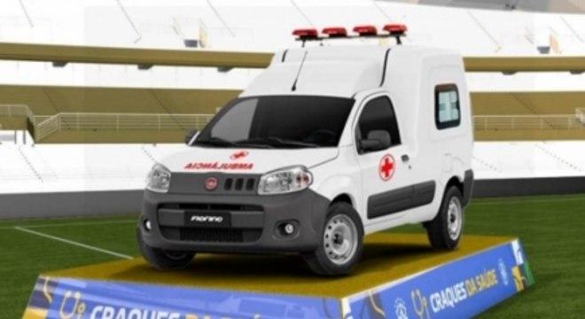 Craques da saúde CBF ambulância