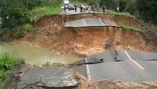 Chuva deixa criança desaparecida e abre crateras em estradas no Pará