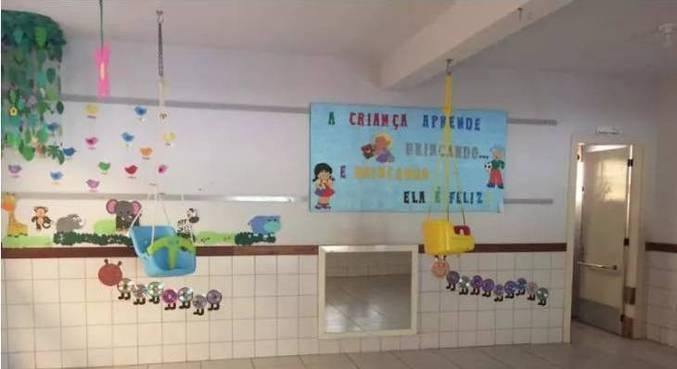 Interior da creche invadida pelo criminoso na última terça-feira (4), em Saudades