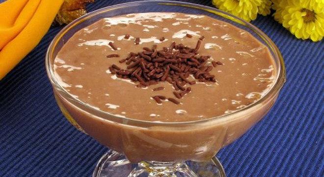 Creme de chocolate com banana