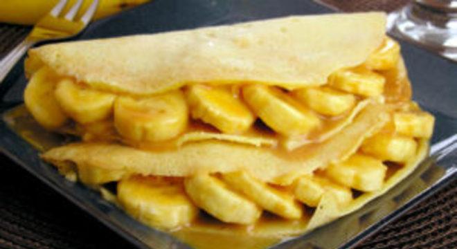 Crepe de banana