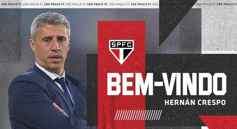 Crespo foi anunciado com muito orgulho pelo São Paulo. Hora de se impor é no início