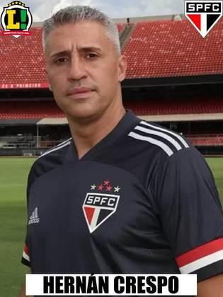 Crespo - 6,5 - O treinador conseguiu fazer o time jogar muito bem mesmo com o elenco reserva. A defesa pecou em lances pontuais, mas, no ataque, Crespo conseguiu extrair o melhor da sua equipe e fazer o São Paulo ser muito competitivo mesmo poupando seus principais jogadores.