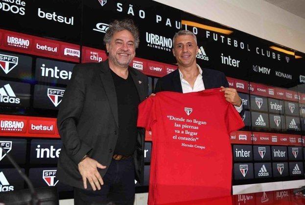 Crespo chegou ao São Paulo com a promessa de uma equipe competitiva, que mostrasse vontade e objetividade o ter a bola.
