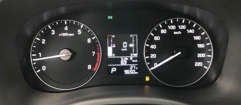 Consumo médio após viagem de 200km em percurso rodoviário: 8,9km/litro com etanol