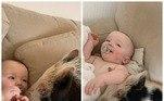 Desde que o sonho se tornou realidade, a bebê e o porco se tornaram inseparáveis e até mesmo assistem ao desenho juntos