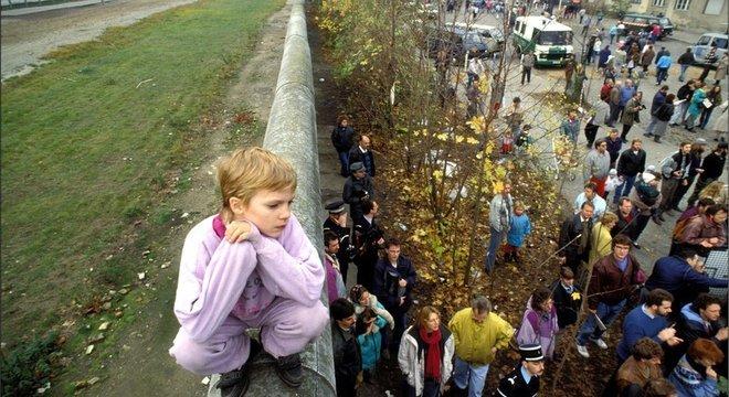 O Muro de Berlim dividiu a cidade por quase 30 anos
