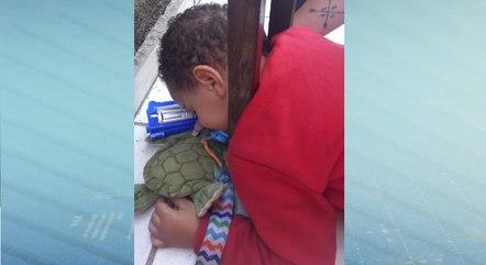 Criança dormiu durante todo o resgate