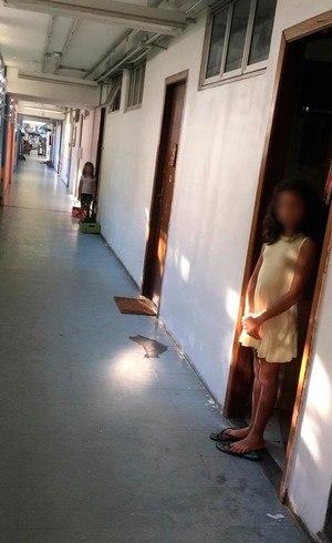 Crianças em isolamento no Crusp