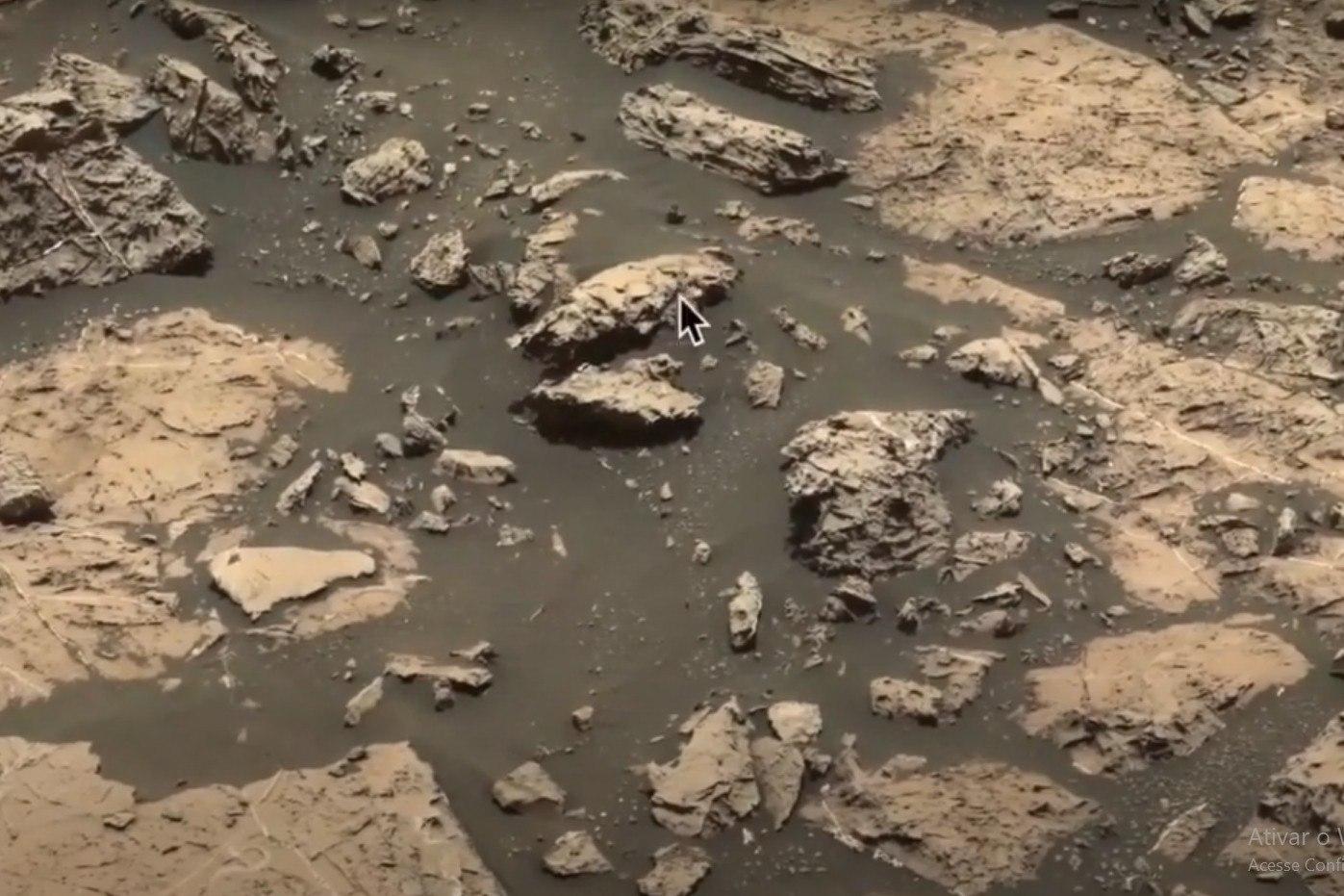 Segundo Waring escreveu no blog UFO Sightings Daily (Avistamentos Diários de OVNIs, em tradução livre), há muito mais do que uma superfície rochosa desoladora na imagem