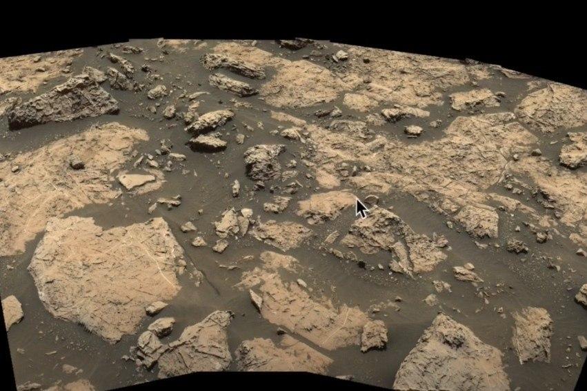 O registro foi captado pela Curiosity, sonda enviada ao Planeta Vermelho pela Nasa