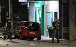 A polícia investiga o grupo de homens fortemente armado que executou a ação na cidade de Criciúma durante a madrugada.
