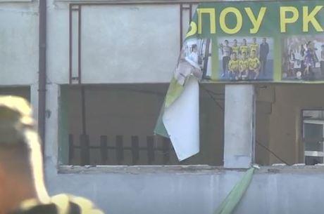 Explosão destruiu janelas da cantina do colégio