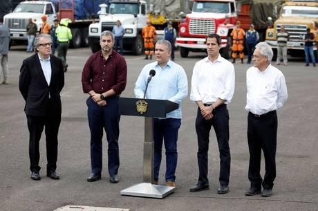 Guaidó se reuniu com líderes latinos no sábado (23)