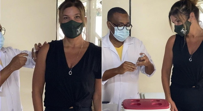 Nas redes sociais, fãs e famosos celebraram a imunização de Cristiana Oliveira