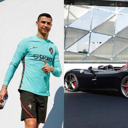 Cristiano Ronaldo visitou a sede da Ferrari em Maranello e aproveitou para adicionar mais um modelo exclusivo para a sua coleção de carros. A Ferrari Monza, carro de edição limitada, é uma das novas queridinhas da marca e é avaliada em R$ 10,2 milhões