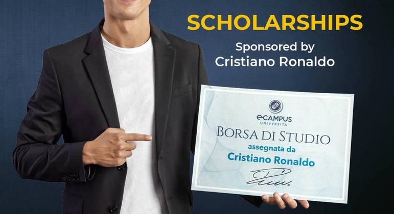 Cristiano Ronaldo, o patrocinador de bolsas de estudo na Itália