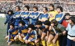 Maradona jogava no Boca Juniors em 1996, quando completou 36 anos. E foi no clube de coração que o eterno camisa 10 da Argentina se aposentou em 2001, aos 41 anos. É outro que muito pouco lembrava aquele craque da Copa de 86