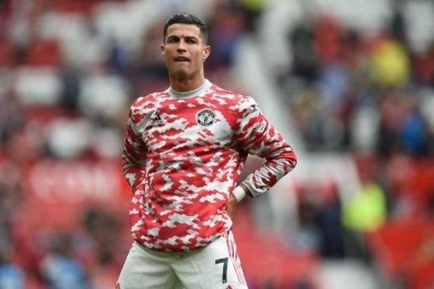 Cristiano Ronaldo durante o aquecimento do Manchester United