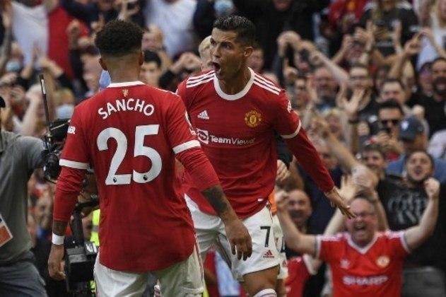 Cristiano Ronaldo e Jadon Sancho, as duas principais contratações do Manchester United nesta janela
