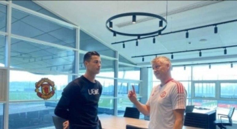 Cristiano Ronaldo e Ole Gunnar Solskjaer - Manchester United