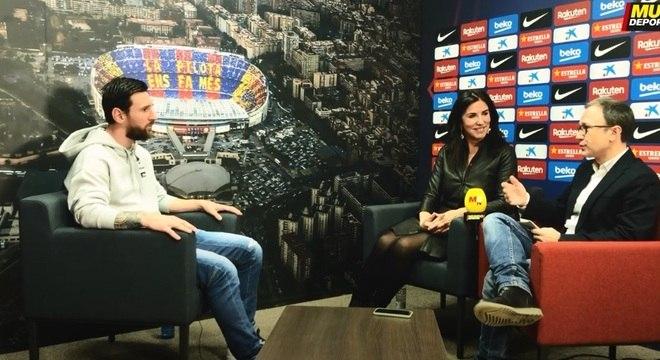Cristina Cubero entrevista Messi para o Mundo Deportivo