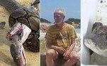 Luta entre cobras gigantescas termina em empate mortal.Garoto compra peixe na web, mas recebe crocodilo quase extinto.Eremita é despejado após 32 anos morando sozinho em ilha isolada.A seguir, as notícias mais bizarras e lidas doHORA 7na última semana!