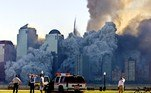 Dois aviões foram lançados contra o World Trade Center, em Nova York, e um terceiro contra o Pentágono, perto de Washington DC