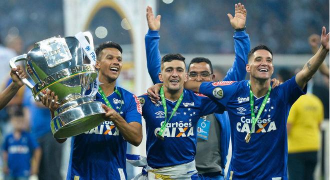 A celebração do Cruzeiro, o campeão de 2018