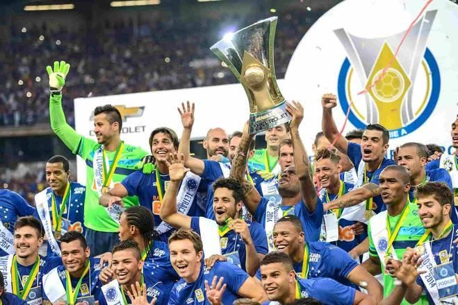 Cruzeiro - 10 títulos: uma Taça Brasil, três Campeonatos Brasileiros e seis Copas do Brasil