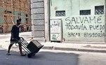 Havanapermanece sob fortes restrições, que incluem um toque de recolher noturno sem precedentes e o fechamento da cidade, medidas que o governo prorrogou por mais quinze dias, até o próximo dia 30
