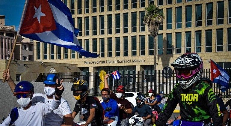 Havana teve manifestações pró-governo nesta quinta