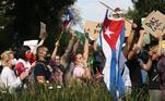 América Latina — O ano foi marcado por grandes movimentos populares no Chile, na Colômbia, no Equador e, principalmente, em Cuba