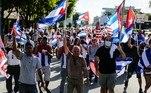 EUA sancionam polícia de Cuba e alto escalão por 'reprimir' protestosVEJA MAIS