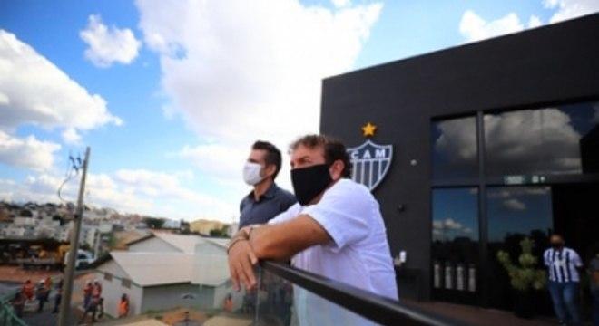 Cuca conheceu as obras da Arena MRV antes da sua apresentação no Atlético-MG