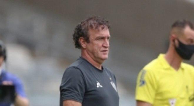 Cuca questionou as cobranças feitas pelo desempenho do time contra o Boa Esporte