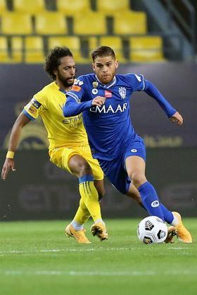 CuellarO colombiano, de 28 anos, atuou por quatro temporadas no Flamengo, até se transferir em 2019 para o Al-Hilal e se sagrar campeão saudita na temporada 2019-20