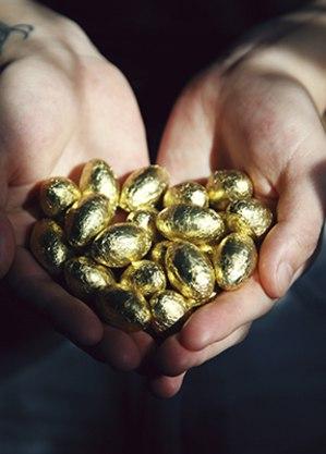 Chocolate de todos os tipos e tamanhos