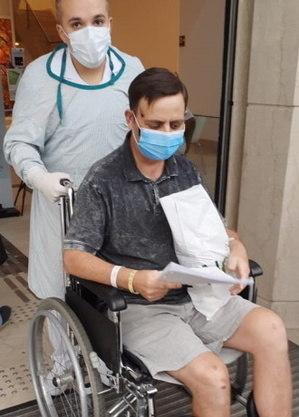 Alcimei ficou internado 40 dias no hospital