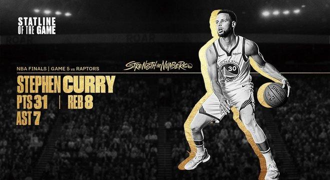 No Twitter dos Warriors, uma homenagem a Steph Curry