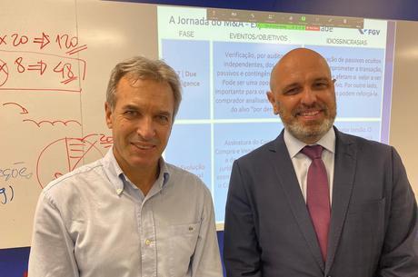 O ex-ministro Altemir Gregolin e Gualtiero Schlichting, da STARK